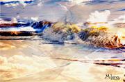 40 x 70, 12 Farben-Galeriedruck, Keilgerahmt auf 2-cm-Echtholzleisten
